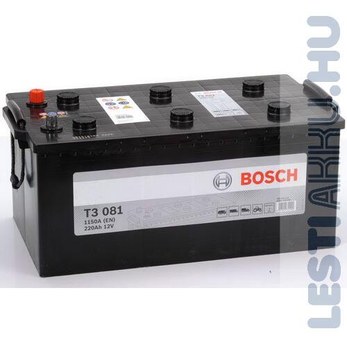 BOSCH T3 081 Teherautó Akkumulátor 12V 220Ah 1150A Bal+ (0092T30810)