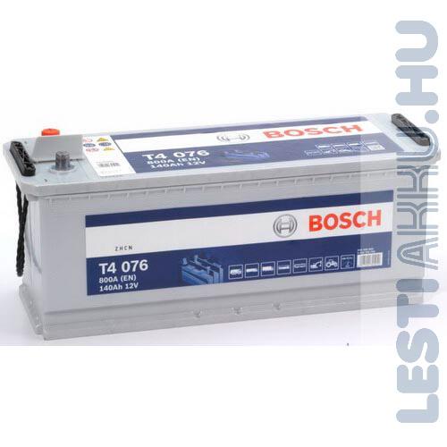 BOSCH T4 076 Teherautó Akkumulátor 12V 140Ah 800A Talpas Bal+ (0092T40760)