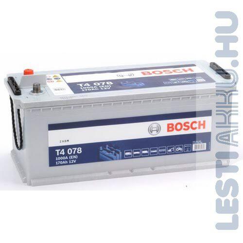 BOSCH T4 078 Teherautó Akkumulátor 12V 170Ah 1000A Talpas Bal+ (0092T40780)