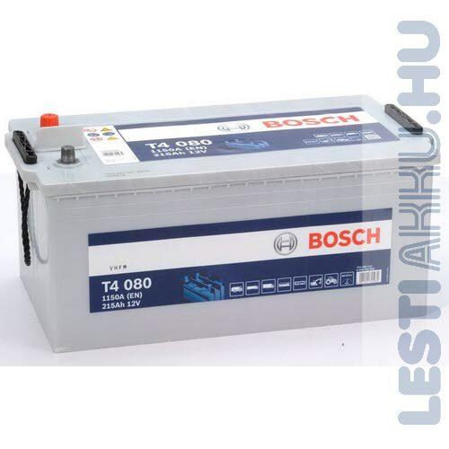 BOSCH T4 080 Teherautó Akkumulátor 12V 215Ah 1150A Bal+ (0092T40800)