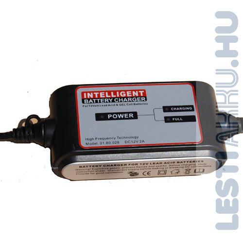 Carstel Battery Charger Motor Akkumulátor töltő 12V 2 Amp (T01.80.028)
