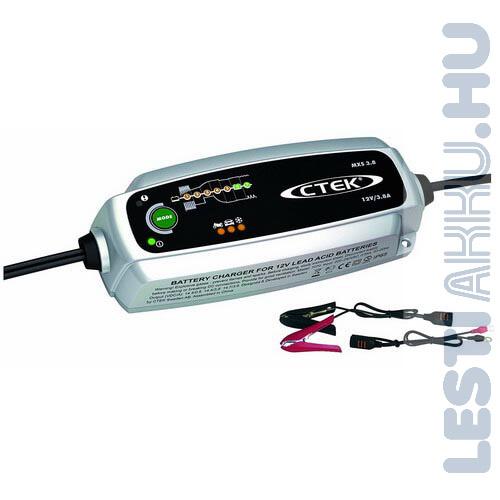CTEK MXS 3.8 akkumulátor töltő 12V 3