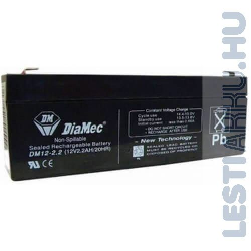 DiaMec Szünetmentes akkumulátor 12V 2.2Ah
