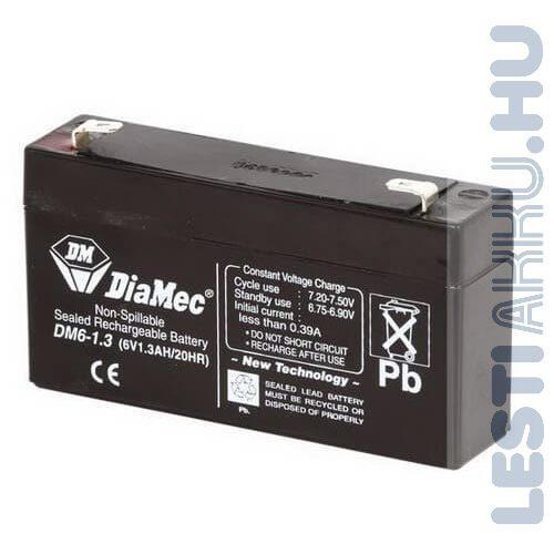 DiaMec Szünetmentes akkumulátor 6V 1