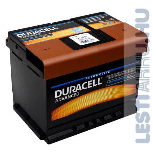 Duracell Advanced Autó Akkumulátor 12V 62Ah 550A Jobb+