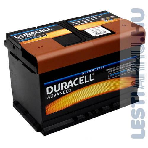 Duracell Advanced Autó Akkumulátor 12V 74Ah 680A Jobb+
