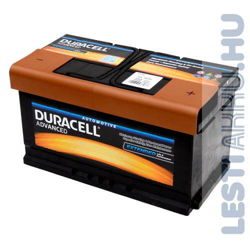 Duracell Advanced Autó Akkumulátor 12V 80Ah 700A Jobb+