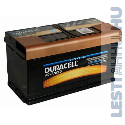 Duracell Advanced Autó Akkumulátor 12V 95Ah 780A Jobb+