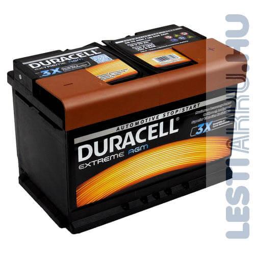 Duracell Extreme AGM Autó Akkumulátor 12V 70Ah 720A Jobb+