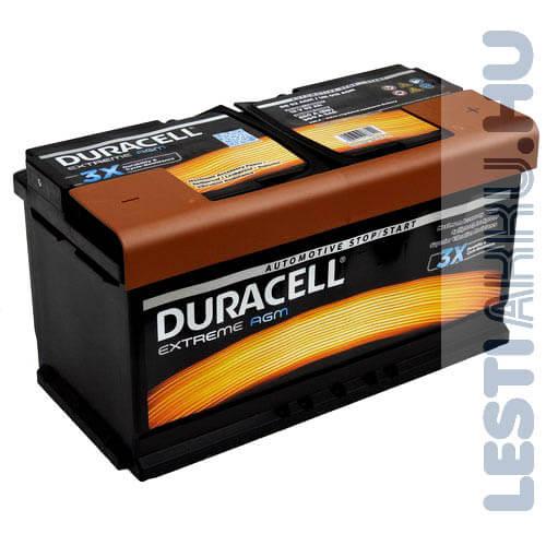 Duracell Extreme AGM Autó Akkumulátor 12V 92Ah 850A Jobb+