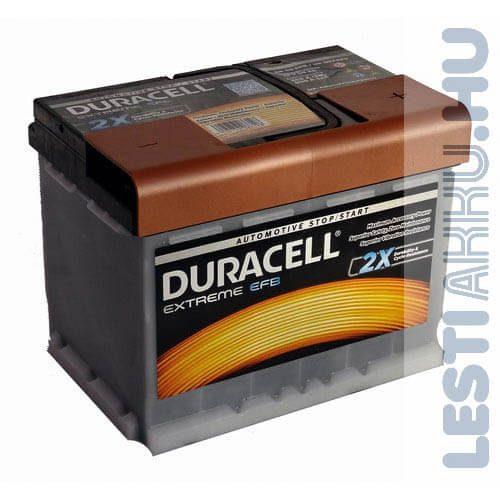 Duracell Extreme EFB Autó Akkumulátor 12V 60Ah 560A Jobb+