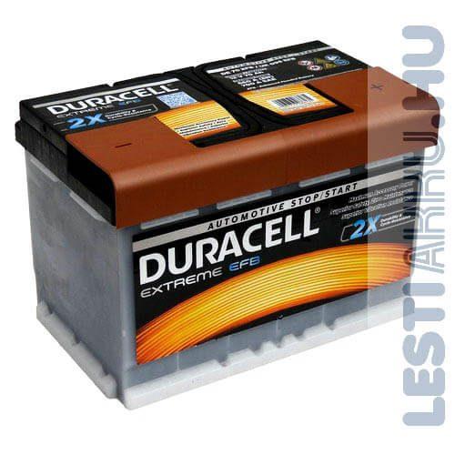 Duracell Extreme EFB Autó Akkumulátor 12V 70Ah 660A Jobb+