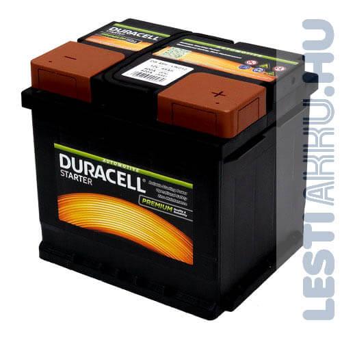 Duracell Started Autó Akkumulátor 12V 45Ah 400A Jobb+