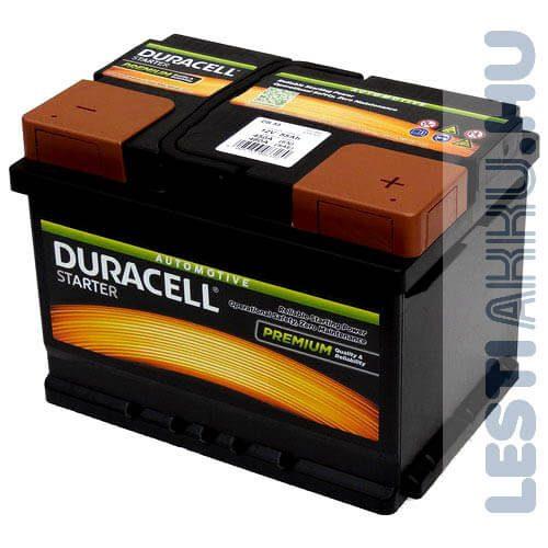 Duracell Started Autó Akkumulátor 12V 55Ah 450A Jobb+