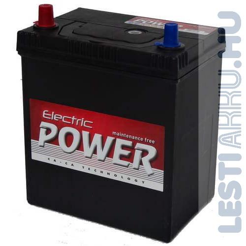 Electric Power Autó Akkumulátor 12V 40Ah 300A Japán Bal+