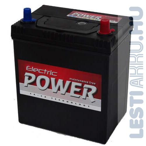 Electric Power Autó Akkumulátor 12V 40Ah 300A Japán Jobb+