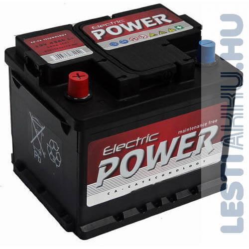 Electric Power Autó Akkumulátor 12V 45Ah 360A Bal+