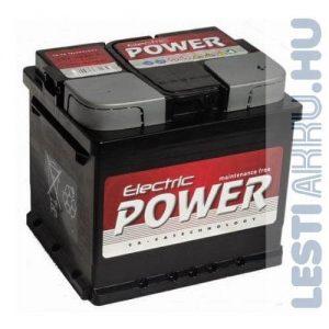 Electric Power Autó Akkumulátor 12V 50Ah 420A Jobb+