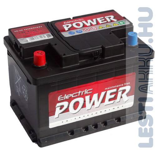 Electric Power Autó Akkumulátor 12V 55Ah 450A Bal+
