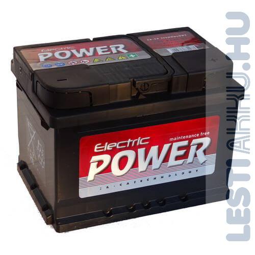Electric Power Autó Akkumulátor 12V 55Ah 450A Jobb+