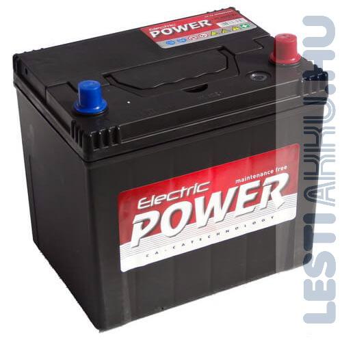 Electric Power Autó Akkumulátor 12V 60Ah 500A Japán Jobb+
