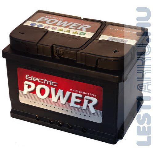 Electric Power Autó Akkumulátor 12V 60Ah 500A Jobb+