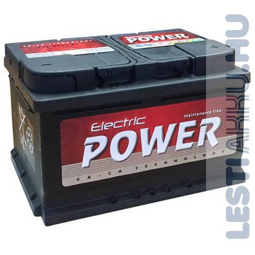 Electric Power Autó Akkumulátor 12V 66Ah 540A Jobb+