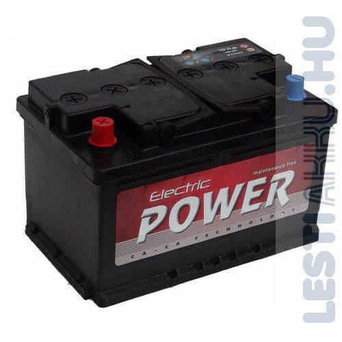 Electric Power Autó Akkumulátor 12V 72Ah 640A Bal+