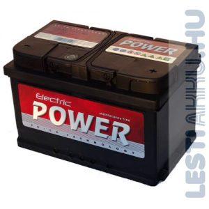 Electric Power Autó Akkumulátor 12V 72Ah 680A Jobb+