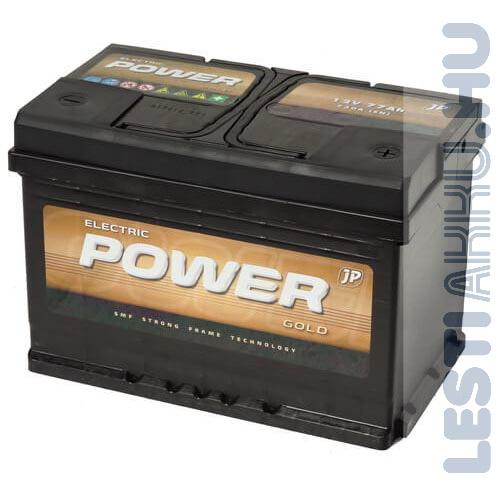 Electric Power GOLD Autó Akkumulátor 12V 77Ah 730A jobb+