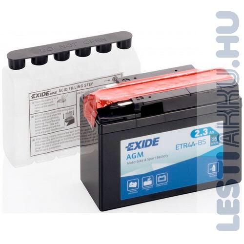 EXIDE Bike AGM Motor Akkumulátor YTR4A-BS 12V 2