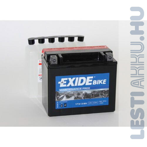 EXIDE Bike AGM Motor Akkumulátor YTX12-BS 12V 10Ah 150A Bal+