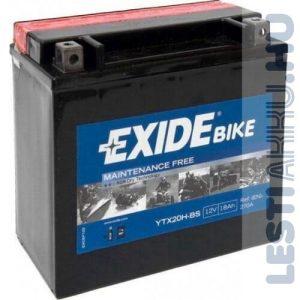 EXIDE Bike AGM Motor Akkumulátor YTX20-BS (ETX20H-BS) 12V 18Ah 270A Bal+