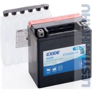 EXIDE Bike AGM Motor Akkumulátor YTX20CH-BS 12V 18Ah 230A Bal+
