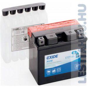 EXIDE Bike AGM Motor Akkumulátor YTZ7-BS 12V 6Ah 130A Jobb+