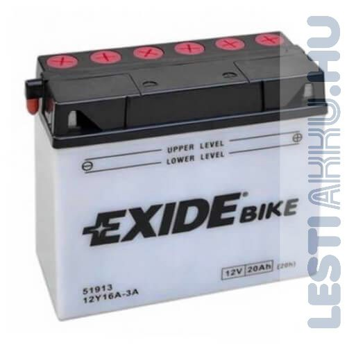 EXIDE Bike BMW Motor Akkumulátor Y12Y16A-3B 12V 20Ah 210A Jobb+