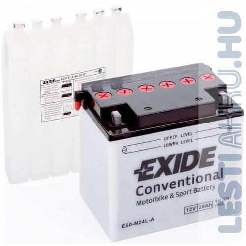 EXIDE Bike Motor Akkumulátor Y60-N24L-A 12V 28Ah 280A Jobb+