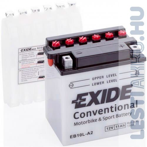 EXIDE Bike Motor Akkumulátor YB10L-A2 12V 11Ah 130A Jobb+