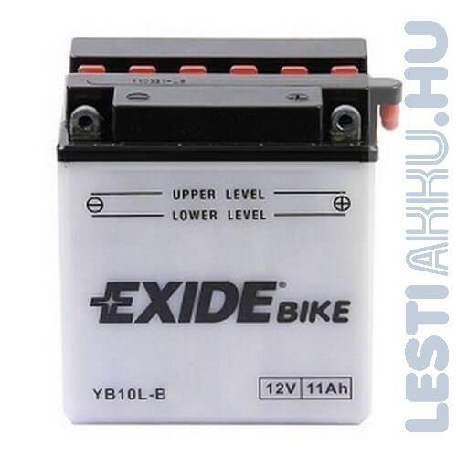 EXIDE Bike Motor Akkumulátor YB10L-B 12V 11Ah 130A Jobb+