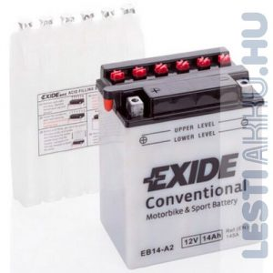 EXIDE Bike Motor Akkumulátor YB14-A2 12V 14Ah 145A Bal+