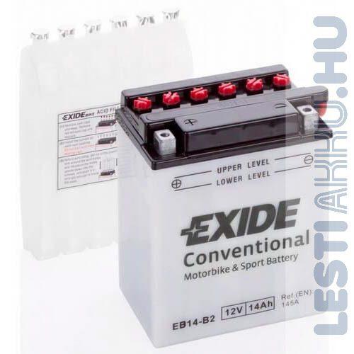 EXIDE Bike Motor Akkumulátor YB14-B2 12V 14Ah 145A Bal+