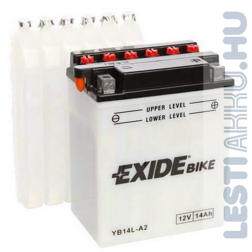 EXIDE Bike Motor Akkumulátor YB14L-A2 12V 14Ah 145A Jobb+