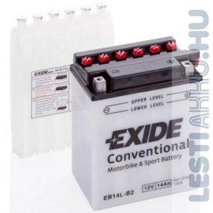 EXIDE Bike Motor Akkumulátor YB14L-B2 12V 14Ah 145A Jobb+