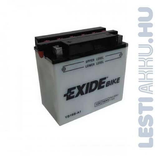 EXIDE Bike Motor Akkumulátor YB16B-A1 12V 16Ah 175A Bal+