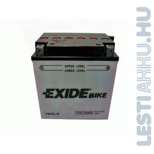 EXIDE Bike Motor Akkumulátor YB30L-B 12V 30Ah 300A Jobb+