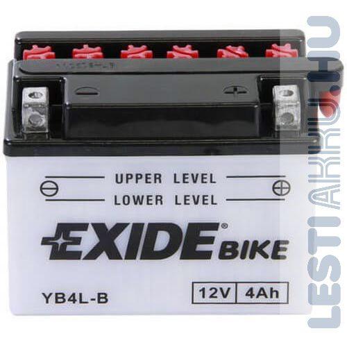 EXIDE Bike Motor Akkumulátor YB4L-B 12V 4Ah 50A Jobb+
