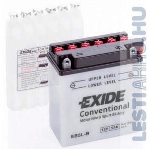 EXIDE Bike Motor Akkumulátor YB5L-B 12V 5Ah 65A Jobb+