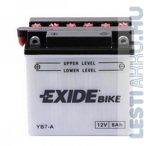 EXIDE Bike Motor Akkumulátor YB7-A 12V 8Ah 85A Bal+