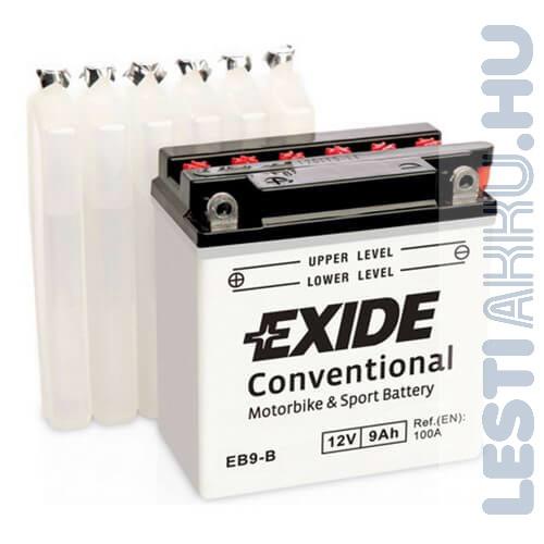 EXIDE Bike Motor Akkumulátor YB9-B 12V 9Ah 100A Bal+