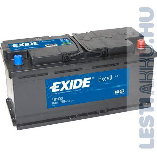 EXIDE Excell Autó Akkumulátor 12V 110Ah 850A Jobb+ (EB1100)